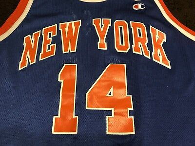 more photos f81eb e2b10 official mitchell and ness new york knicks authentic royal ...