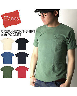 Hanes Pocket tees 3 pack assorted colors