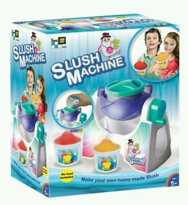 Slush Machine Frozen Ice Slushie Drink Making with Cups and Straws