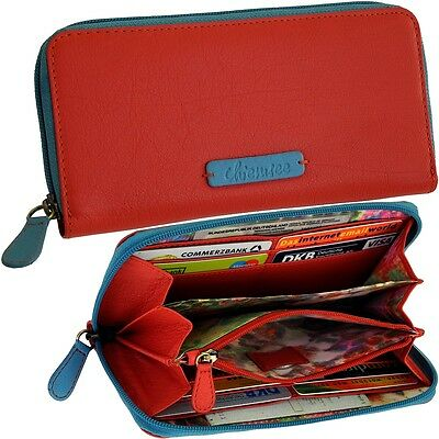cd3537e2a51cd CHIEMSEE Damen Brieftasche Rot Leder Geldbörse Portemonnaie Geldbeutel  Purse Red