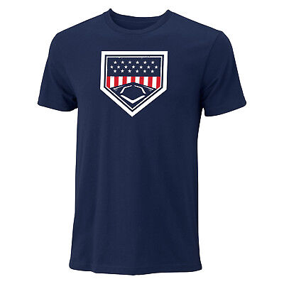 Evoshield USA Homeplate Tee Men's Baseball/Softball T-Shirt - Navy - Large