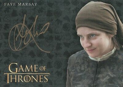 Game of Thrones Valyrian Steel, Faye Marsay 'The Waif' Gold Autograph Card