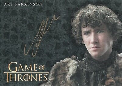 Game of Thrones Valyrian Steel, Art Parkinson 'Rickon Stark' Gold Autograph Card