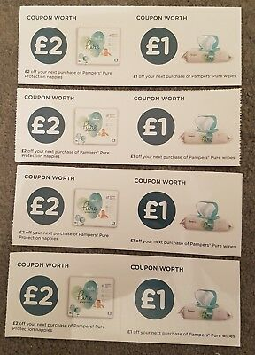 £12 worth of Pampers Pure Protection Nappies & Wipes Vouchers