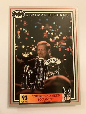 Batman Returns 1992 Dynamic Card #93 There's No Need To Panic