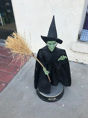 Wizard of Oz Animated Wicked Witch of West Gemmy Halloween First Edition Talking