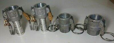 Lot of 4 - PT Coupling STA-LOK - 10C, 10B, 10D Cam Lock Cam and Groove