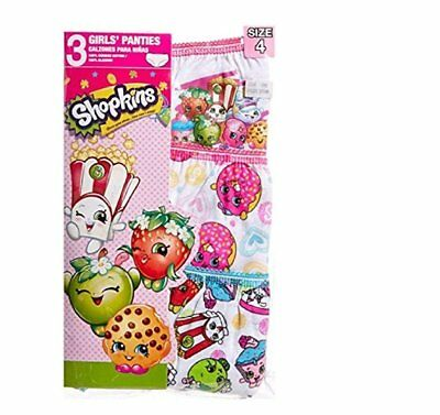 Shopkins Little Big Toddler Girls Briefs Underwear 3 Pairs of Panties Sizes...