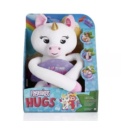 Fingerlings HUGS Rare White Unicorn GIGI Plush Pet NEW~2018 Authentic WowWee Toy