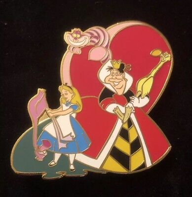 Disney Auctions Alice in Wonderland Pin - Queen of Hearts, Cheshire Cat - LE 250