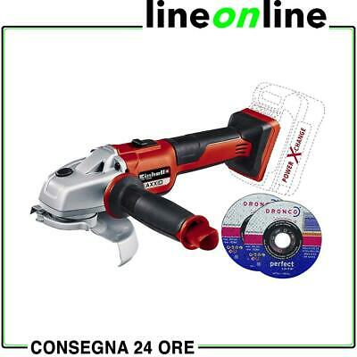Smerigliatrice a batteria Einhell AXXIO 18V Power X-Change disco 115 e 125 mm