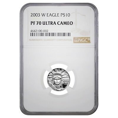 2003 W 1/10 oz $10 Platinum American Eagle Proof Coin NGC PF 70 UCAM