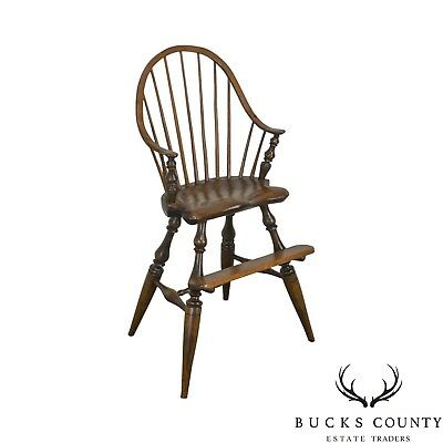 Windsor Style Childs Youth Arm Chair by K. Malone (18th Century Reproduction)