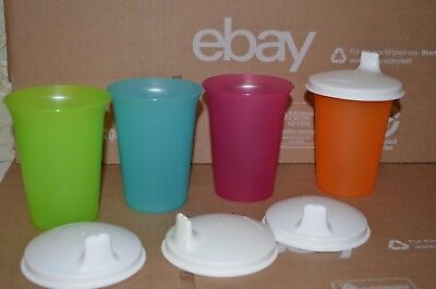 Tupperware Tumblers / Toddler Cups With Sippy Seals ~ 4