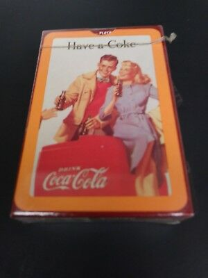 Vintage Coca Cola Sealed Deck Of Playing Cards