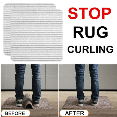 4/8Set Reusable Rug Carpet Mat Grippers Anti Slip Silicone Grip Skid Tape Eyeful