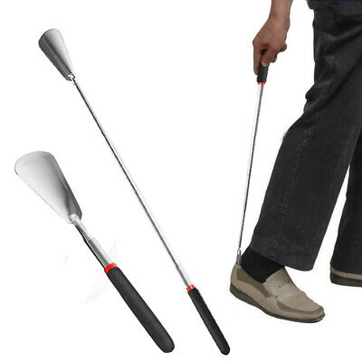 New Adjustable Shoe Horn Long Handle Stainless Steel Shoehorn Spoon Shoe Lifter