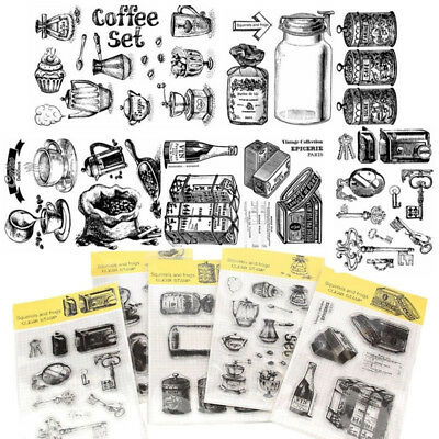 Clear DIY Crafts Transparent Stamp Retro Silicone Rubber Scrapbooking