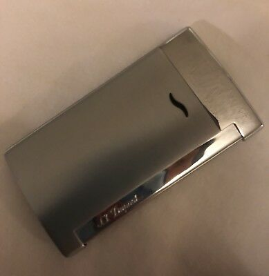 ST Dupont Slim 7 Lighter Silver Matte With Silver Detail