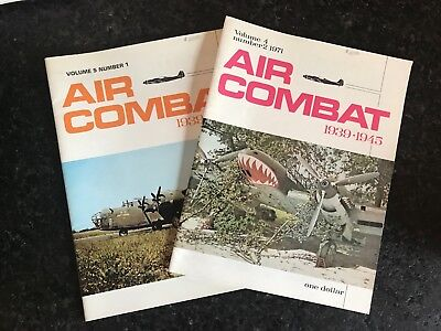 Two issues of Air Combat 1939-1945 Reference Magazine 1971-72