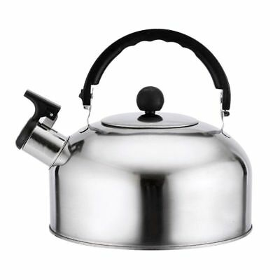 3L Stainless Steel Whistling Kettle - Home Camping Caravan Lightweight Hot UK
