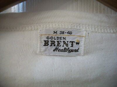 Vintage Thermal T Shirt S Golden Brent Healthguard Thick Heavy Winter USA Made