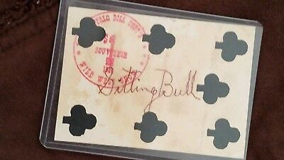 Sitting Bull Buffalo Bill Wild West Show Autographed Target Card 1884 ??????????