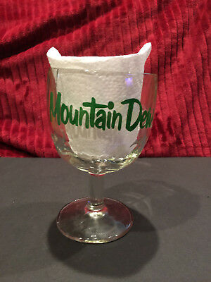 Vintage MOUNTAIN DEW Thumbprint Drinking Goblet, It'll Tickle Yore Innards!