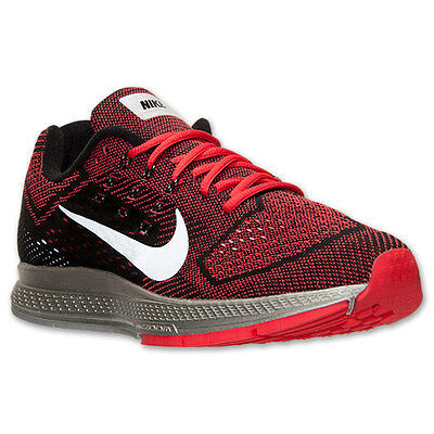 Men's Nike Zoom Structure 18 Flash Running Shoes, 683934 600 Size 9-13 Red/Silve
