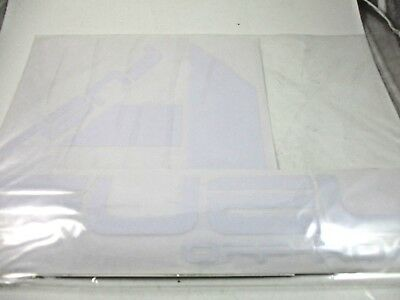 Fuel Stickers *    Clear Back White       (For 4 Stickers)