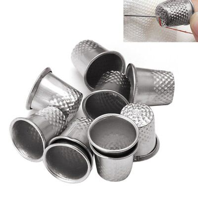 NEW 10X Quality Metal Thimbles Traditional Tailors Sewing Quilting Silver LU