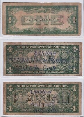 1928 $1 United States Note, $1 Hawaii, & $1 Sil. Cert.'s ( War Notes ) Get All 3