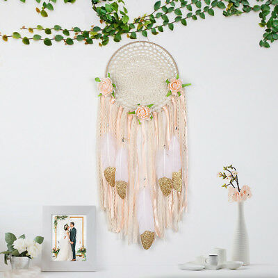10×Large Handmade Dream Catcher Feather Wall Home Chic Hanging Decor Ornament