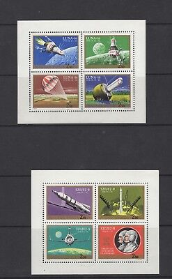 Hungary, two Space souvenir sheets     (4745