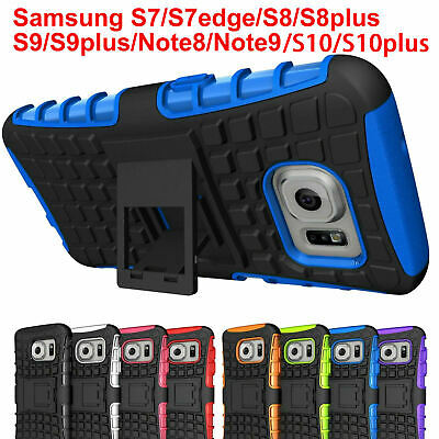 Case Cover For Samsung Galaxy S7 Shock Proof PC Rubber Armor Hybrid Kick Stand