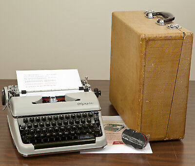 Olympia SM3 DeLuxe Vintage Working Typewriter New Platen Restored Near Mint