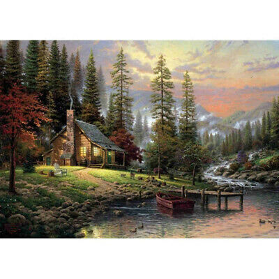 16x12'' Canvas Paint By Number Kit Digital Oil Painting Beauty Rural Landscape