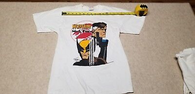 1989 Wolverine & Nick Fury T-Shirt~Size Small~Used~Some spots on Back, see pics
