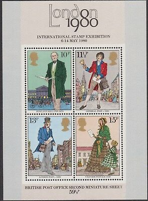 z2150) Great Britain. 1980. MNH. SG ms1099. Death of Sir Rowland Hill. Stampex