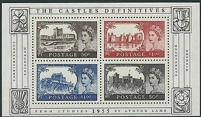 z2063) Great Britain. 2005. MNH. SG MS2530. 50th Ann. of Castle H.V's Minisheet.