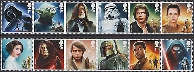 z1801) Great Britain.2015. MNH. SG 3758a/64a. Star Wars First Issue c£15+