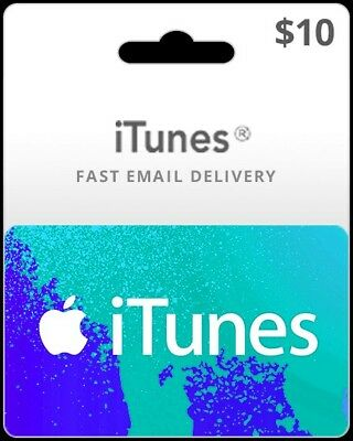 $10 ITUNES  EMAIL Delivery - $9 00 | PicClick
