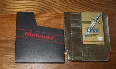 Zelda II: The Adventure of Link (Nintendo, 1988) NES gold cart, plays & Saves!