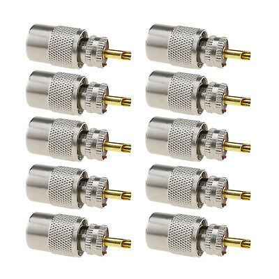 Nickel-plated 10x PL259 Solder UHF Connector Plug  for Rg8x Coaxial Cable