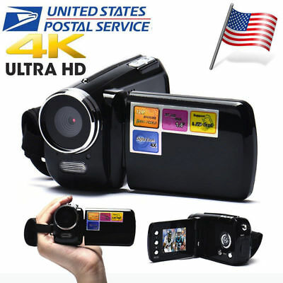"4K 1080P Full HD 1.8"" LCD TFT 4X Digital Zoom Mini Video Camcorder DV Camera"