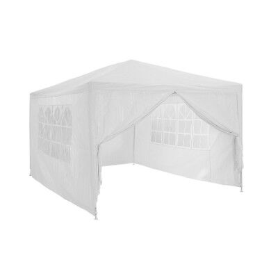 4*3M Party Tent Outdoor PE Garden Gazebo Marquee Canopy Awning W/ Full Sidewall