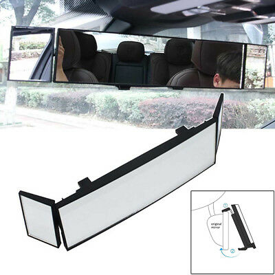 Three Folds Car Clip On Rear View Mirror Wide-angle Lens Convex Mirror Safety