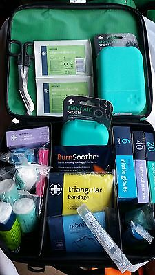 Bordeaux first aid kit bag shoulder strap sports paramedic Reliance 115 piece