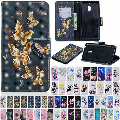 For Huawei P20 Lite Pro P Smart Magnetic Pattern Leather Flip Wallet Case Cover