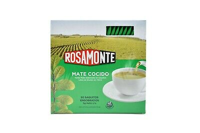 Rosamonte Yerba Mate Tea Bags - Produced in Argentina - 50 teabags x 3g each